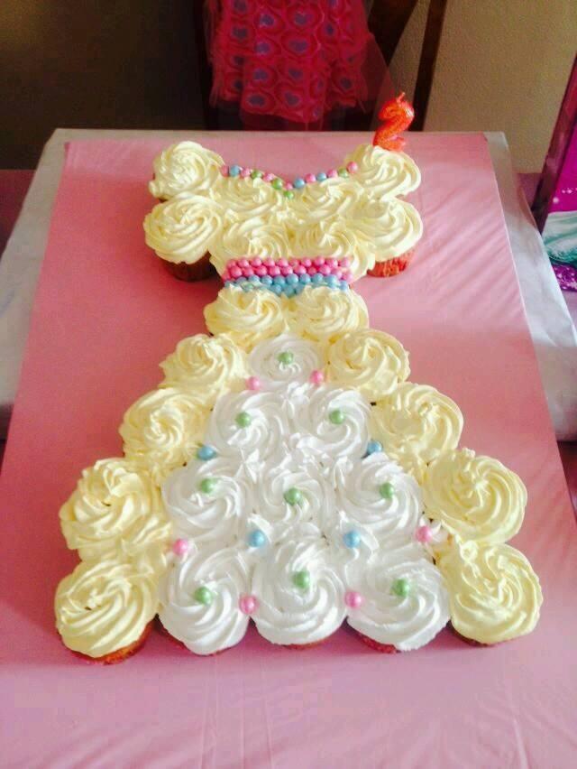 Princess Belle Cupcake Dress Cake