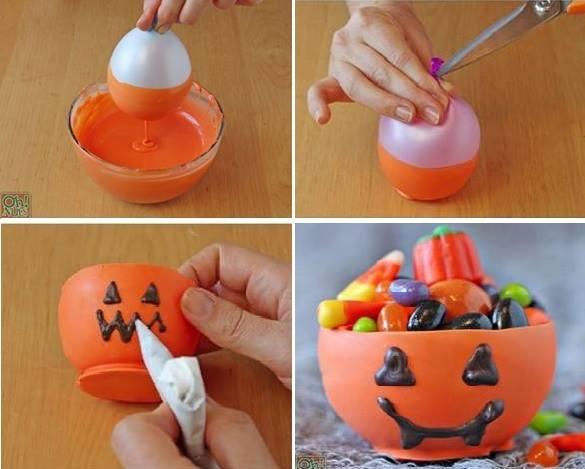 pumpkin chocolate bowl