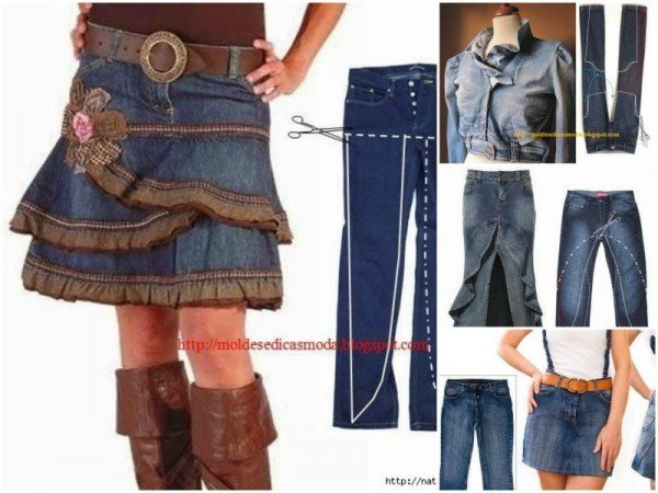 Refashion old jeans into new fashion DIY tutorials