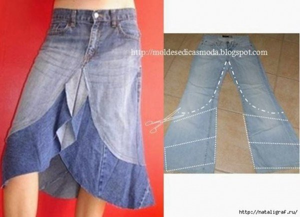 Top DIY Ideas to Refashion Old Jeans into New Skirt