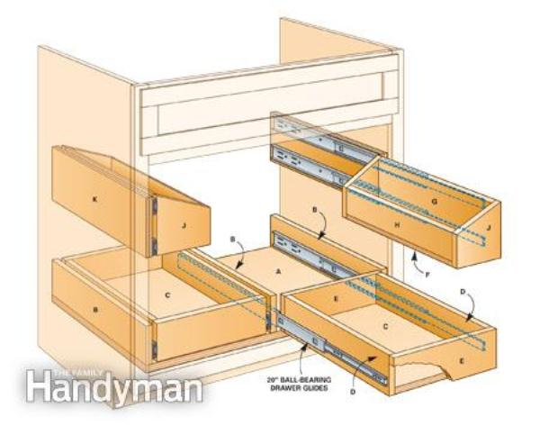 roll out undersink tray design