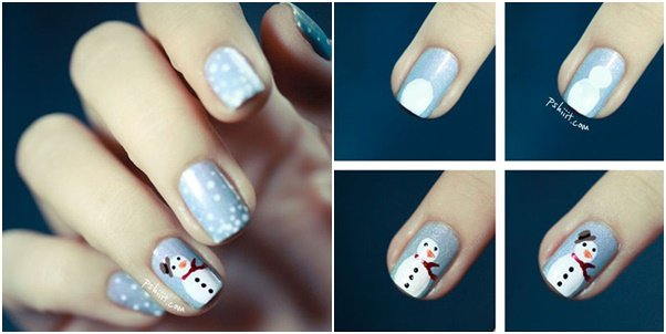20 cutest christmas nail art diy ideas 20 cutest christmas nail art diy ideas diy snowman nail art tutorial prinsesfo Image collections