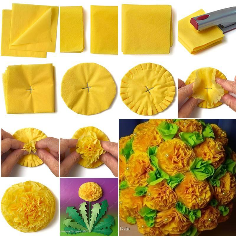 how to make paper flowers with tissue paper