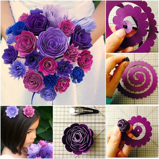 paper flower bouquet tutorial - Roho.4senses.co