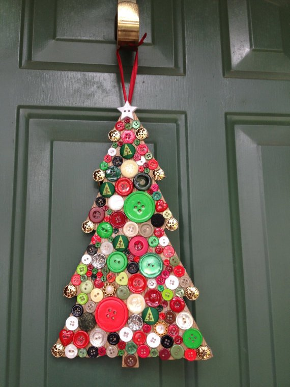 Button Crafts for Christmas Decorations14
