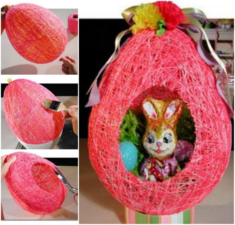 DIY Festive Easter String Ball Basket