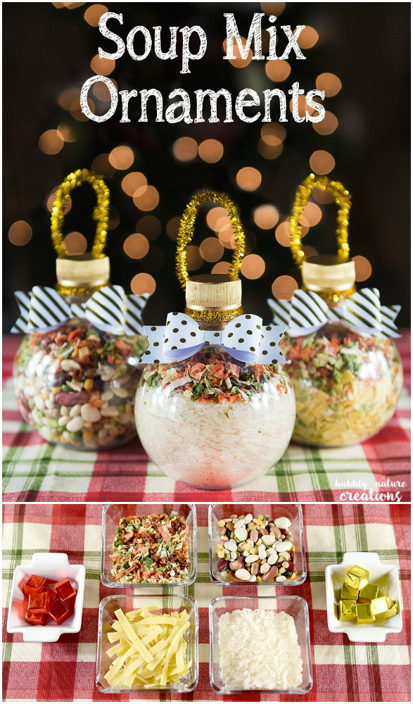 DIY Soup Mix Ornaments Christmas Gifts