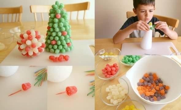 DIY Gummy candy christmas tree