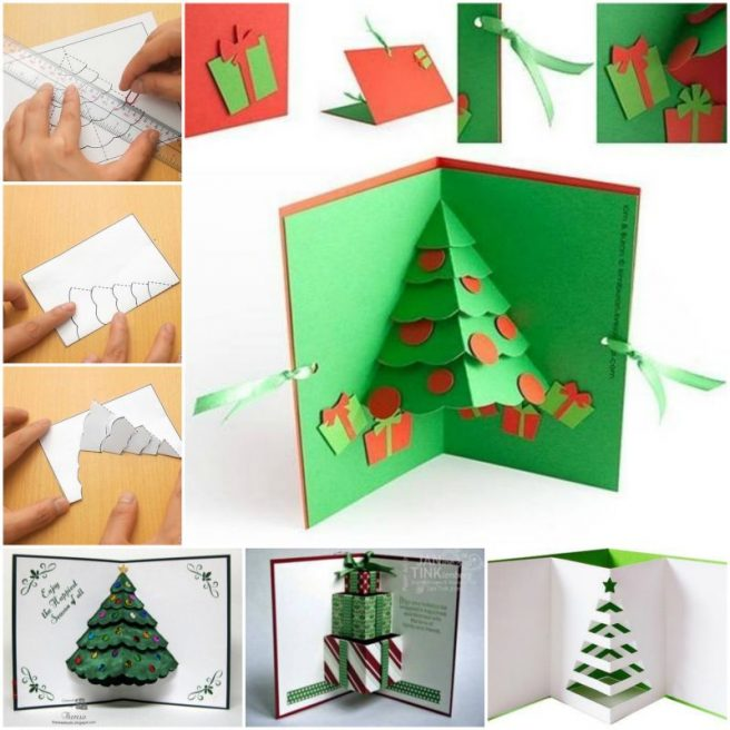 DIY 3D Pop Up Christmas Tree Card
