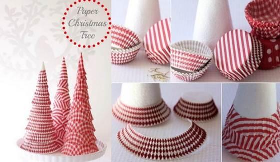 DIY Cupcake Liner Christmas Tree tutorial