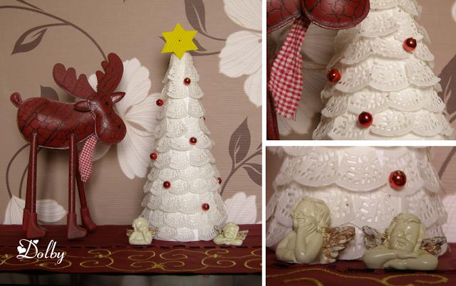 DIY Doily Christmas Tree Tutorial