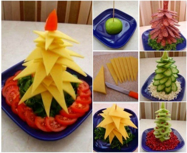 DIY Edible Christmas Tree Platter Appetizers