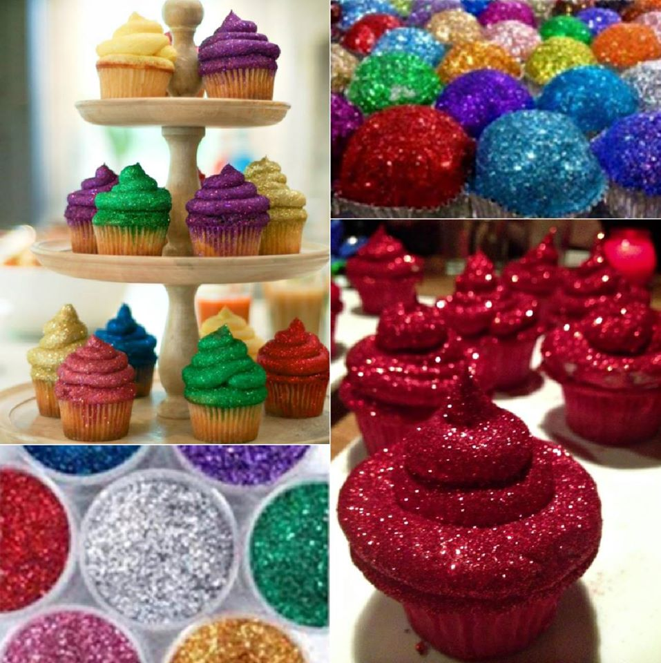 edible glitter for cupcakes