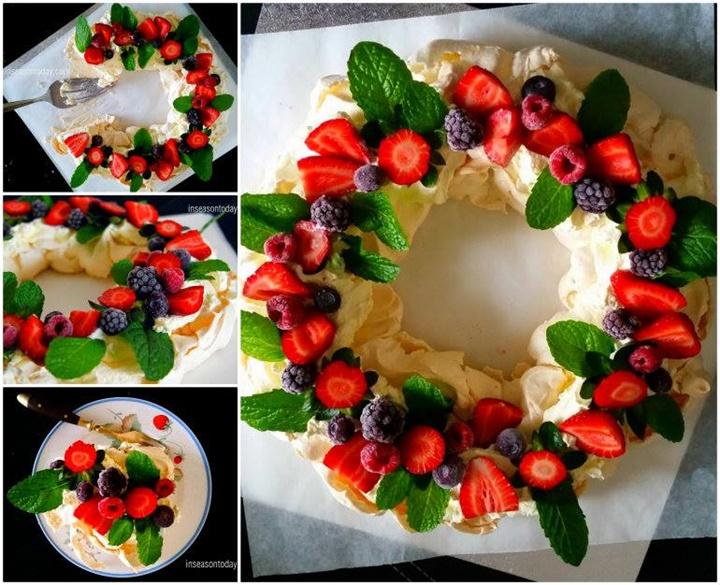 How to DIY Festive Berry Pavlova Wreath f