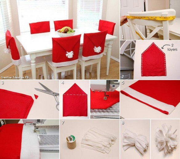 How to DIY Festive Santa Hat Chair Cover