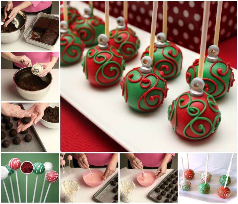 How to DIY Ornament Cake Pop tutorial feature