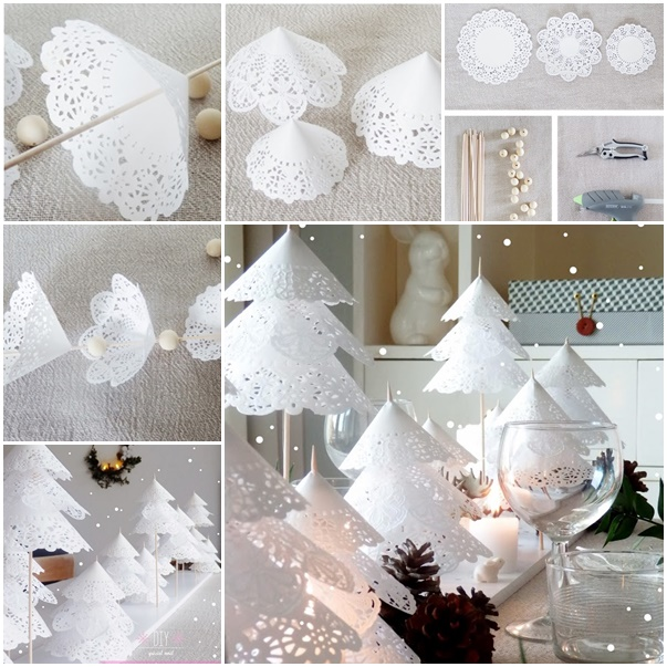 How to DIY Paper Doily Christmas Tree thumb2