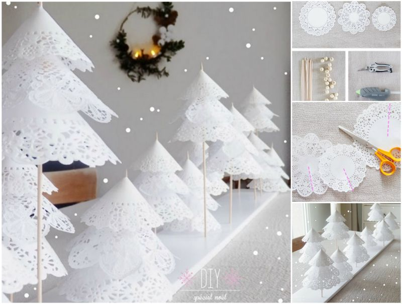 How to DIY Paper Doily Christmas Tree
