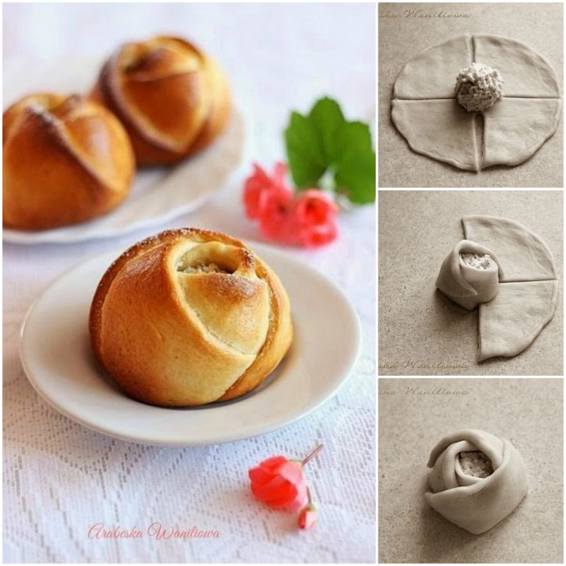 How to diy pretty rose bud bread for Diy rose food