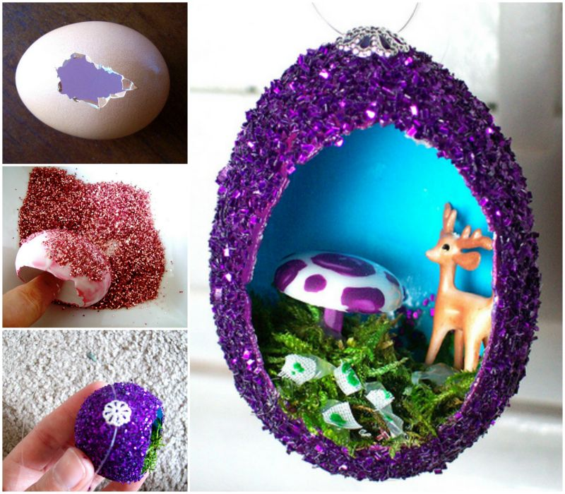 How to diy vintage egg ornament tutorial - Bricolage de noel facile pour adulte ...