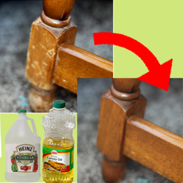 How to Revive Wood Furniture with Vinegar and Canola Oil