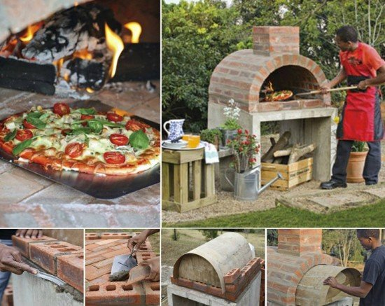 diy outdoor wood fired pallet pizza oven