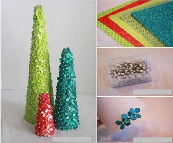 diy paper flower christmas tree