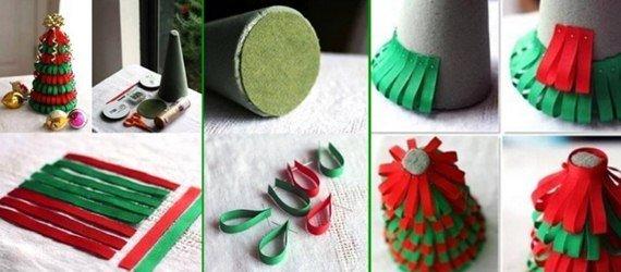 DIY Layered Ribbons Christmas Tree
