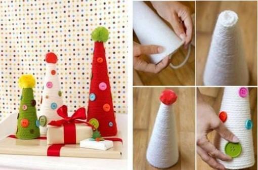 DIY Yarn Wrapped Christmas Tree