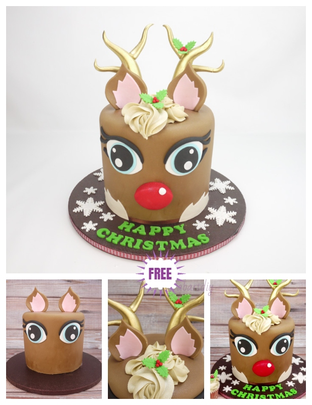 3D Rudolph Reindeer Cake Design DIY Tutorial for Christmas - Video
