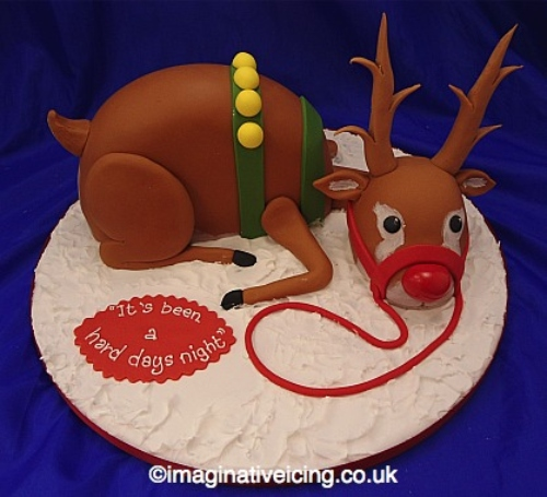 3D Magical Rudolph Reindeer Cake Design DIY Tutorial for Christmas