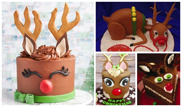 Adorable Rudolph Reindeer Cake Design DIY Tutorial for Christmas