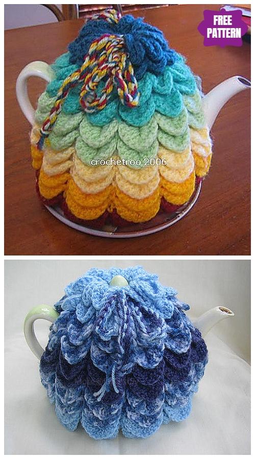 DIY Crochet Tea Cozy Free Crochet Patterns - Scallop Tea CosyFree Crochet Pattern