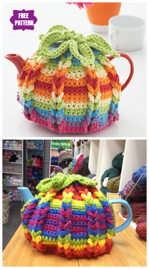 DIY Crochet Tea Cozy Free Crochet Patterns - Hot Hibiscus Tea CozyFree Crochet Pattern