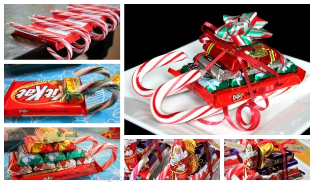 DIY Candy Cane Sleighs Christmas Gift Tutorials - Video
