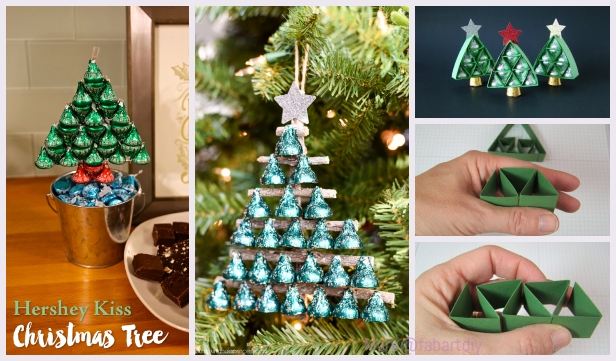 Diy Kiss Kiss Chocolate Christmas Tree Gift Package