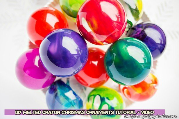 DIY Melted Crayon Chrismas Ornaments Tutorial-Video
