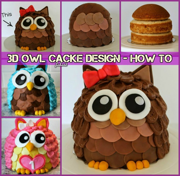 Outstanding Diy 3D Owl Cake Design Recipes Tutorials Funny Birthday Cards Online Drosicarndamsfinfo