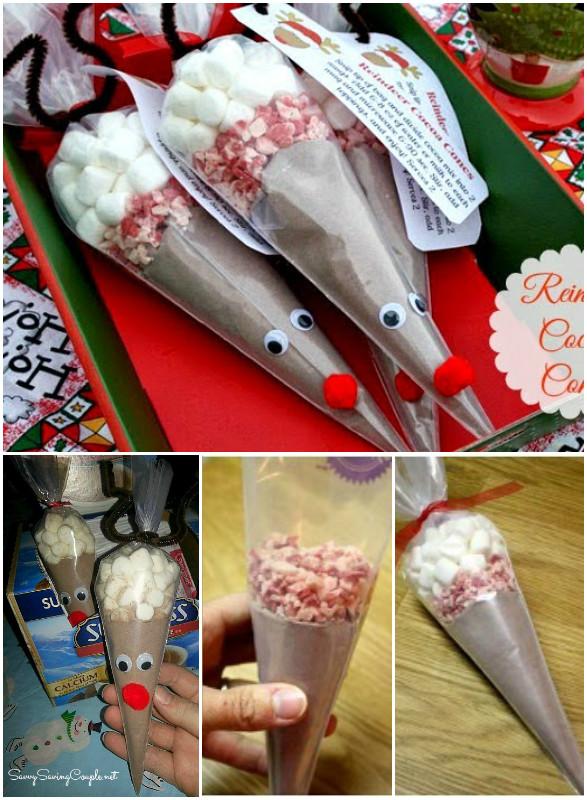 DIY Reindeer Cocoa Cones