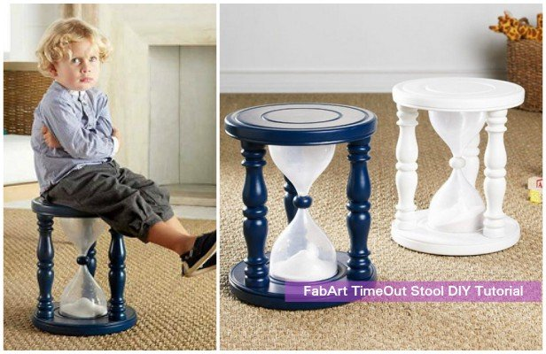 how to diy sand filled time out stool