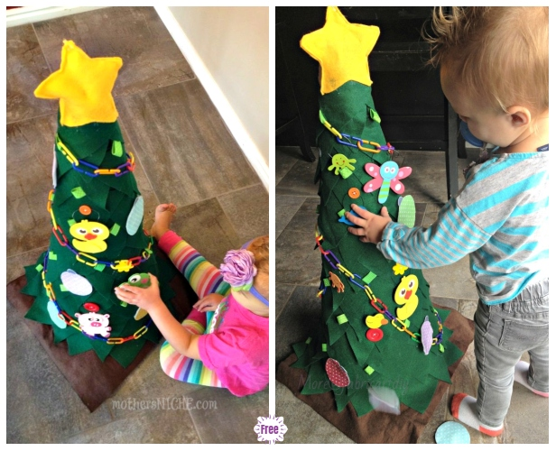 Fun Kids Play Felt Christmas Tree DIY Tutorials