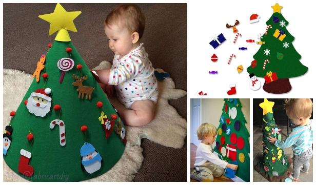 Fun Kids Play Felt Christmas Tree DIY Tutorials