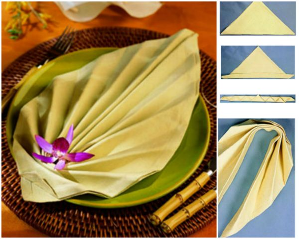 20 Best DIY Napkin Folding Tutorials for Christmas - Bijoux Napkin folding DIY Tutorial