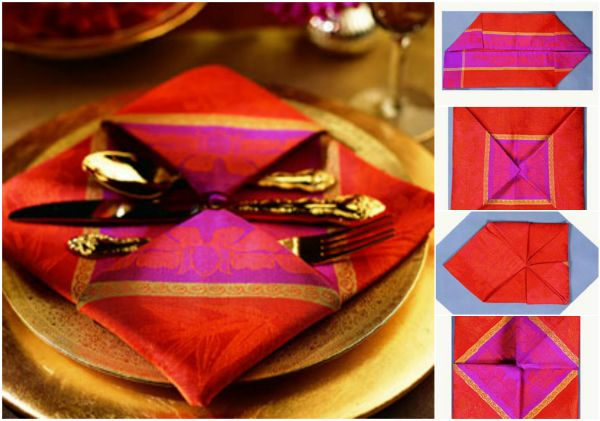 20 Best DIY Napkin Folding Tutorials for Christmas - Pendant Napkin folding DIY Tutorial