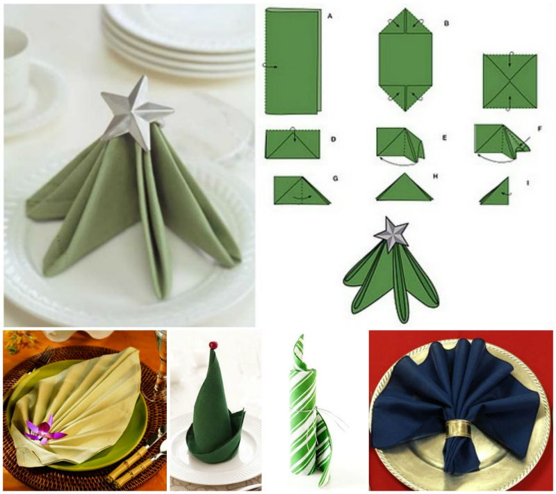 20 Best DIY Napkin Folding Tutorials for Christmas