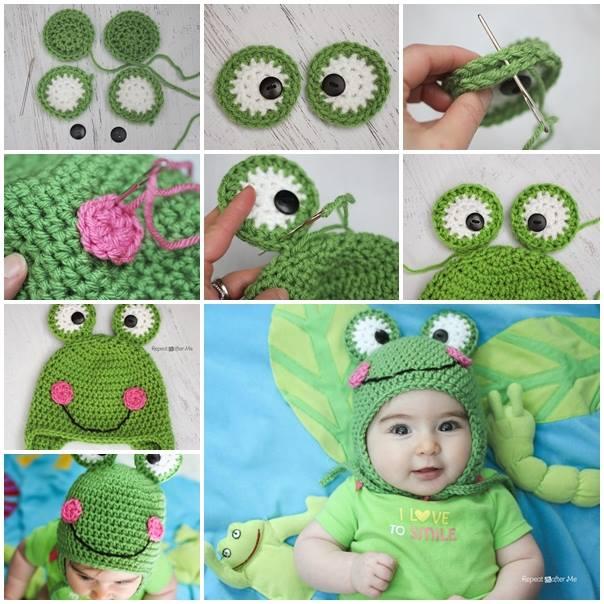 Cute Crochet Frog Hat