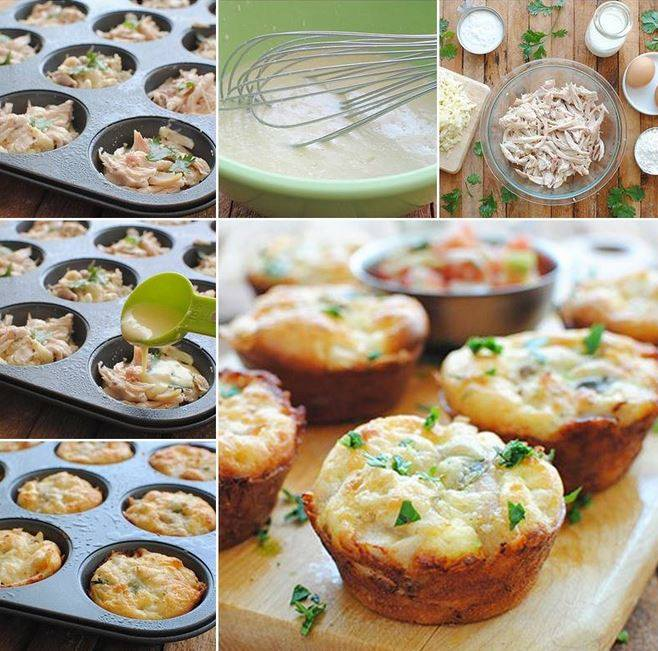 DIY Chicken and Cheese Mini Pies Recipe