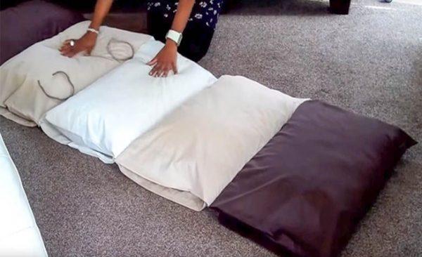 DIY Pillow Bed Floor Cushions Tutorial - Video