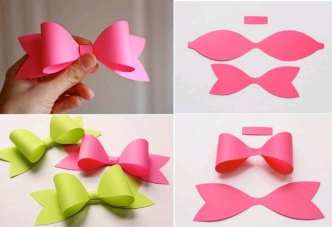 Gift Topper DIY Tutorial10 Paper Bows From Template