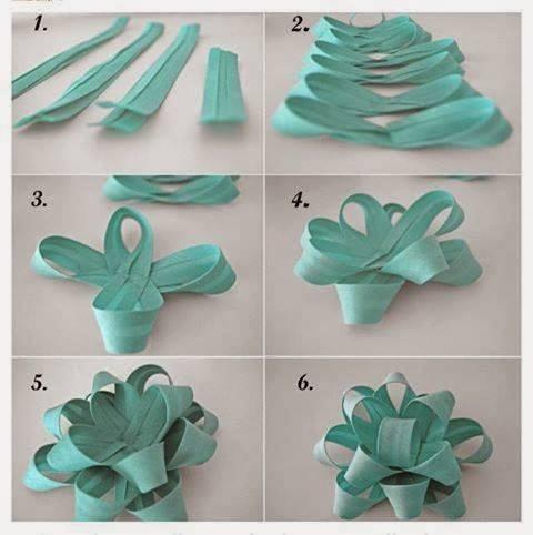Gift Topper DIY Tutorial11- DIY Paper Bow Flower gift Topper Tutorial